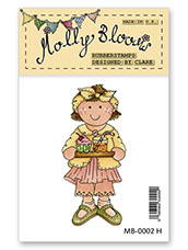 Rubber Stamp - Cupcake Molly