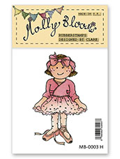 Rubber Stamp - Ballerina Molly
