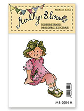 Rubber Stamp - Sitting Molly with Caterpilar