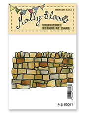 Rubber Stamp - Stone Wall