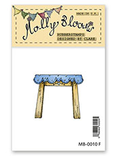 Rubber Stamp - Wooden Table