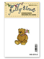 Rubber Stamp - Fluffy Teddy Bear