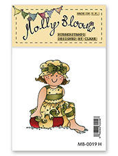 Rubber Stamp - Molly at the Beach