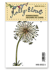 Rubber Stamp - Dandelion Clock Flower