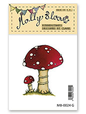 Rubber Stamp - Toadstools