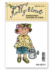 Rubber Stamp - Molly in the Garden