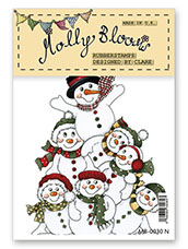 Rubber Stamp - Snowmen Stack