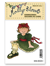 Rubber Stamp - Molly Sitting