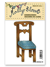 Rubber Stamp - Wooden Chair