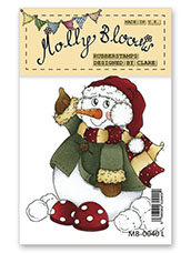 Rubber Stamp - Jolly Snowman