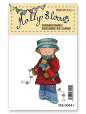 Rubber Stamp - Molly with Tree Lights