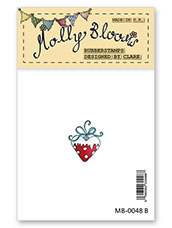 Rubber Stamp - Heart Ornament