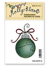 Rubber Stamp - Round Bauble