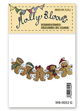 Rubber Stamp - Gingerbread Garland