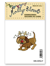 Rubber Stamp - Rudog the Rednose Reindeer