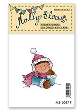 Rubber Stamp - Molly at Christmas