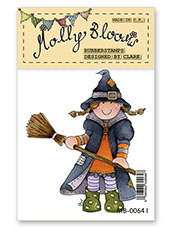 Rubber Stamp - Molly as Witch