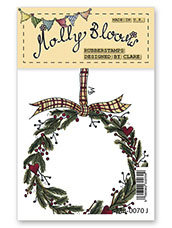 Rubber Stamp - Christmas Wreath