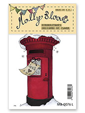 Rubber Stamp - Snowy Post Box