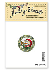 Rubber Stamp - Jolly Snowman Postmark