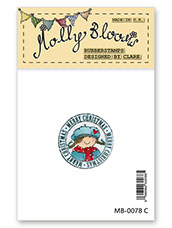 Rubber Stamp - Molly Lantern Postmark