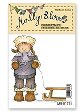 Rubber Stamp - Molly with Sledge