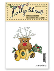 Rubber Stamp - Rudolph Joy