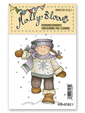 Rubber Stamp - Snowflake Molly