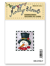 Rubber Stamp - Frosty - Festive Frame