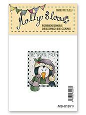 Rubber Stamp - Percy - Festive Frame