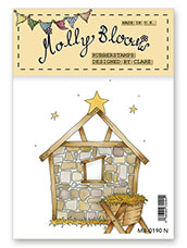 Rubber Stamp - Away in a Manger Background