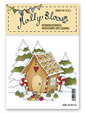 Rubber Stamp - Frosted Gingerbread Wonderland