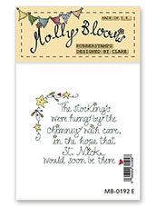 Rubber Stamp - The Stockings were Hung (text)
