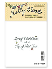 Rubber Stamp - Merry Christmas Verse (text)