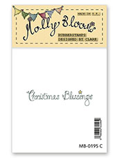 Rubber Stamp - Christmas Blessings (text)