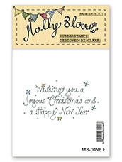 Rubber Stamp - Joyous Christmas (text)