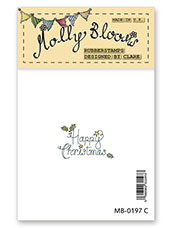 Rubber Stamp - Happy Christmas (stacked text)