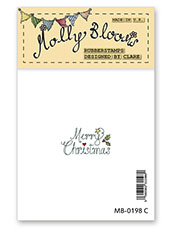 Rubber Stamp - Merry Christmas (stacked text)
