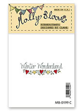 Rubber Stamp - Winter Wonderland (text)