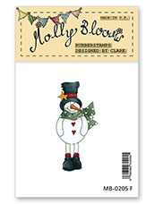 Rubber Stamp - Fireplace Frosty