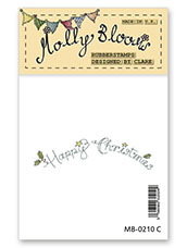 Rubber Stamp - Happy Christmas (arched text)